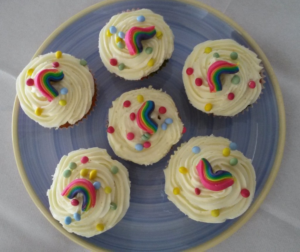 5 RH Rainbow Cupcakes
